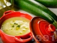 Крем супа от тиквички с моркови и лук